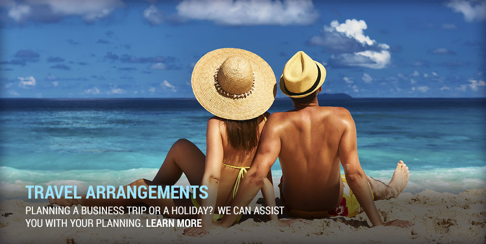 Planning a business trip or holiday? we can assist you with your planning